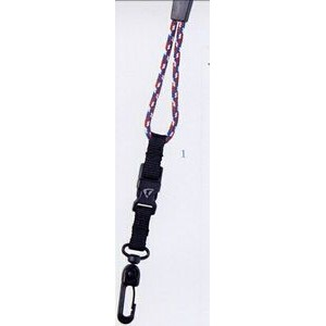 "Lanyard w/ Swivel Plastic J-Hook & Snap Buckle (3/8""x42"")"