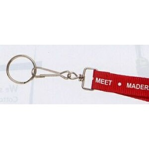 "Lanyard w/ Large Swivel J-Hook & Split Ring (3/4""x36"")"