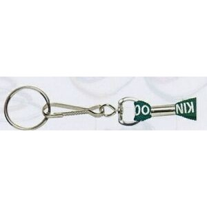 "Lanyard w/ Large Swivel J Hook & Split Ring (3/8""x36"")"