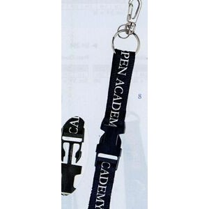 "Lanyard w/ 2 Split Rings/ Heavy Duty J-Hook/ Snap Buckle (3/4""x42"")"