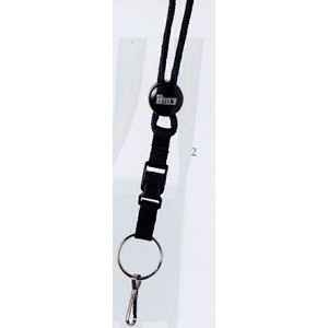 "Lanyard w/ Split Ring, J-Hook & Snap Buckle (3/8""x42"")"